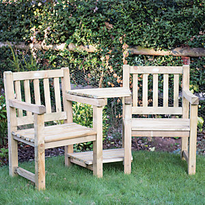Forest Garden Harvington Love Seat Set