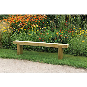 Forest Garden Sleeper Garden Bench - 1.8m