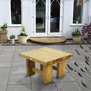 Low Level Sleeper Garden Table - 700mm
