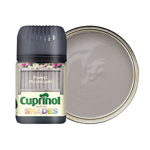 Cuprinol Garden Shades Matt Wood Treatment Tester Pot - Forest Mushroom 50ml
