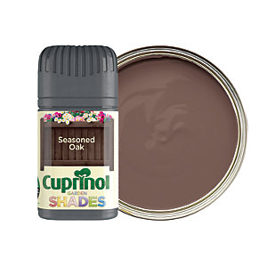 Cuprinol Garden Shades Matt Wood Treatment Tester Pot - Seasoned Oak 50ml