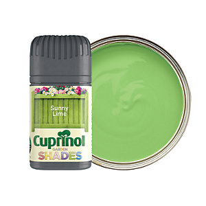 Cuprinol Garden Shades Matt Wood Treatment Tester Pot - Sunny Lime 50ml
