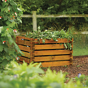 Rowlinson Timber Composter 439 Litres