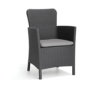 Keter Miami Dining Chair - Graphite