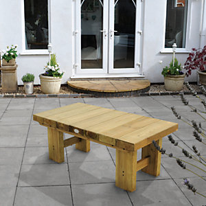 Low Level Sleeper Garden Table - 1.2m