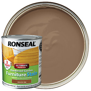 Ronseal Ultimate Protection Hardwood Garden Furniture Stain - English Oak 750ml