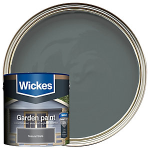 Wickes Garden Colour Matt Wood Treatment - Natural Slate 2.5L