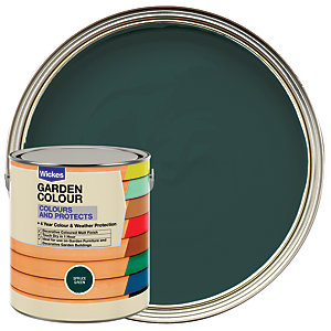 Wickes Garden Colour Matt Wood Treatment - Spruce Green 2.5L