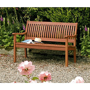 Wickes Willington Hardwood Bench - 690mm x 1.24m