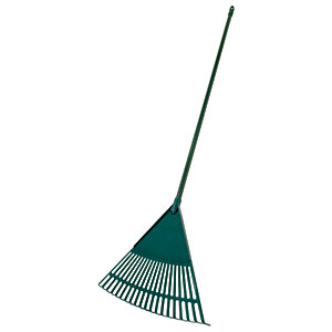Large Garden Rake with Metal Handle