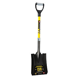 Roughneck Square Point Shovel 36 inch D- Handle
