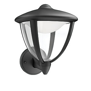 Philips Robin Black Wall Lantern - 4.5W