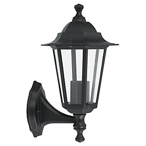 Wickes Black 6 Sided Lantern - 60W
