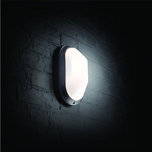 Wickes Black Oval Bulkhead Light - 60W