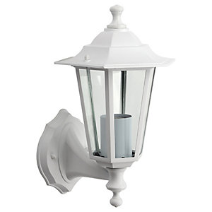 Wickes White 6 Sided Lantern - 60W