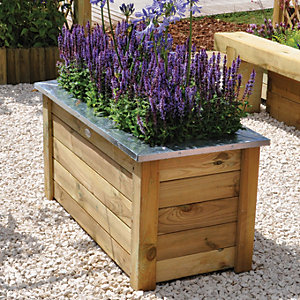 Forest Garden Cambridge Planter - 500mm x 1m