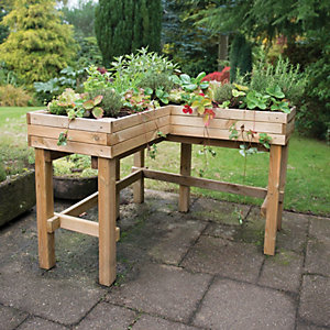 Forest Garden Corner Table Planter 900mm x 1.22m