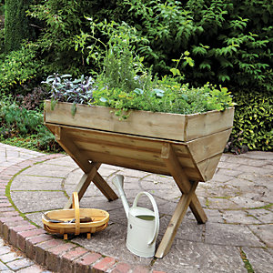 Forest Garden Kitchen Garden Trough - 870mm x 1m