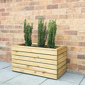 Forest Garden Linear Double Planter - 800 x 400mm