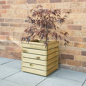 Forest Garden Linear Square Planter - 400mm x 400mm