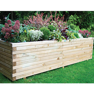 Forest Garden Lomello Planter Natural 500 X 500mm