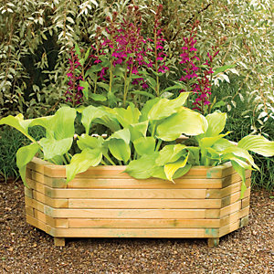 Forest Garden Richmond Planter Natural - 360 x 1m