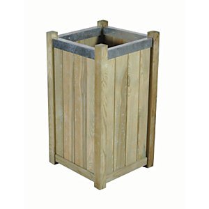 Forest Garden Slender Planter - 400 x 400 x 750mm
