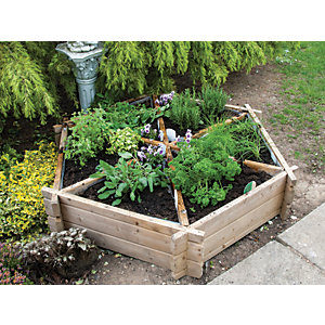 Planter - Hexagonal Herb Planter - 330mm x 1.m