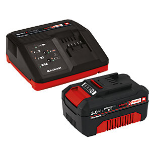 Einhell Power X-Change 18V 3.0Ah Battery And Fast Charge Starter Kit