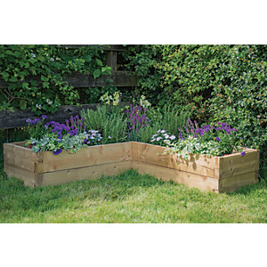 Forest Garden Caledonian Corner Raised Bed - 1.3m x 1.3m