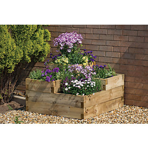 Forest Garden Caledonian Tiered Raised Bed - 560mm x 900mm