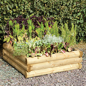 Forest Garden Half Log Raised Bed   300 X 960mm