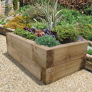 Garden Railway Sleepers & Raised Bed Kits - Fencing -Gardens | Wickes