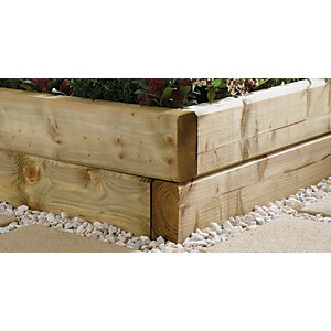 Green Planed & Chamfered Sleepers - 95 x 195mm x 1.8m