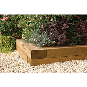 Rowlinson Garden Sleepers - 0.9m Pack of 2