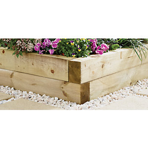 Wickes Garden Sleepers - Light Green 100 x 150mm x 1.8m