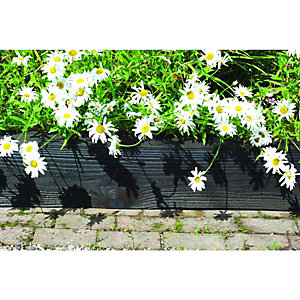 Wickes Jumbo Garden Sleepers - Black 125 x 250mm x 1.8m