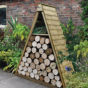 Forest Garden 5 x 2 ft Overlap Timber Pinnacle Log Store