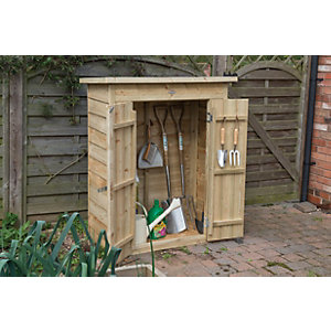 Forest Garden Pent Pressure Treated Garden Store   3 X 2 Ft