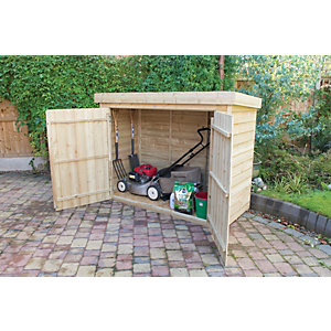 Forest Garden Pent Pressure Treated Large Outdoor Store   6 X 3 Ft