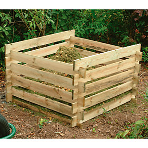 Forest Wooden 3 x 3 ft Garden Compost Bin