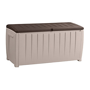Keter Novel Outdoor Storage Box Beige & Brown - 4 x 2 ft