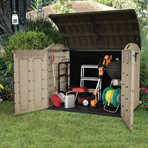 Keter Store It Out Ultra Large Garden & Bike Storage Beige & Brown - 6 x 4 ft