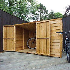 Mercia 4x6 ft Overlap Pent Bike Store