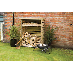 Rowlinson 4 x 2 ft Pressure Treated Timber Small Log Store