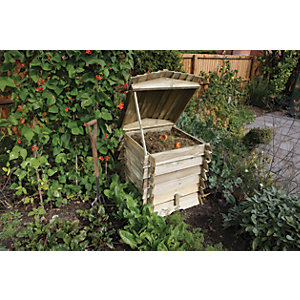 Rowlinson Beehive Timber Garden Compost Bin - 2 x 2 ft