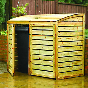 Rowlinson Large Timber Double Wheelie Bin Storage - 5 x 3 ft