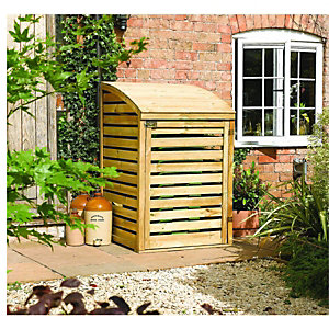 Rowlinson Timber Single Wheelie Bin Storage - 3 x 3 ft