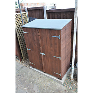 Shire Shiplap Timber Garden Store Shed Honey Brown - 4 x 2 ft