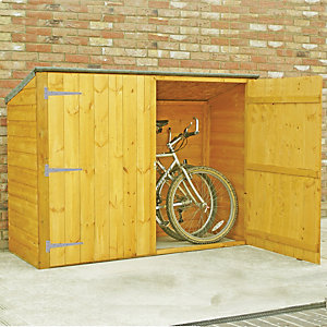 Wickes Large Shiplap Timber Bike Storage Shed - 6 x 2 ft